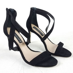 Steven Madden Black Strap Heels